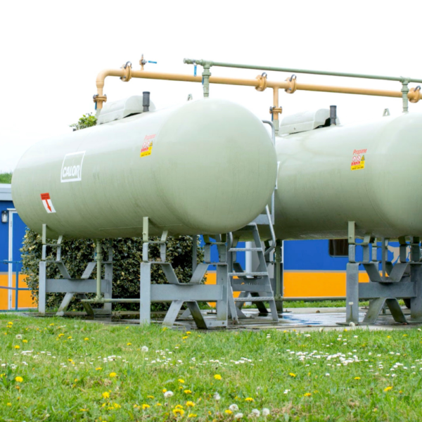 Calor LPG tanks at the C&D Food manufacturing site, a still image taken from a video produced for Calor