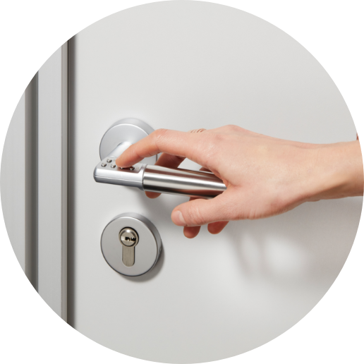 Image showing a door being opened.
