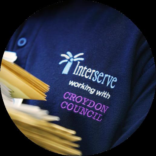 Interserve polo shirt showcasing Croydon Council
