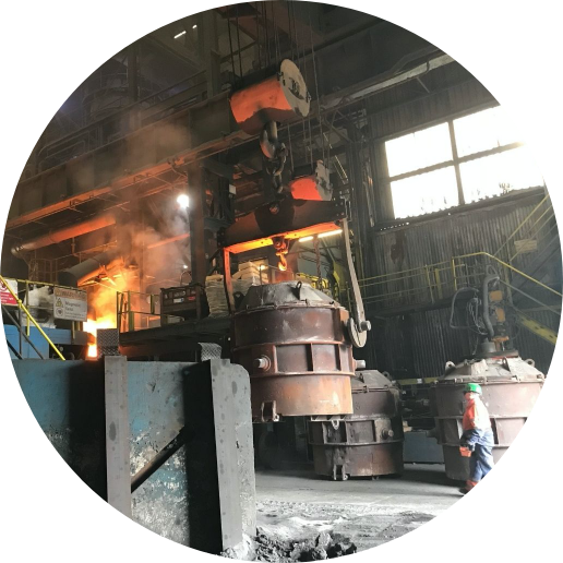 Saint Gobain machinery in factory