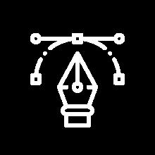Artwork and creative design icon