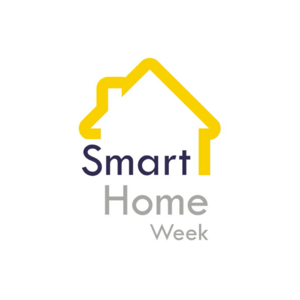 The Smart Home Week logo used on the introduction screen of a video case study