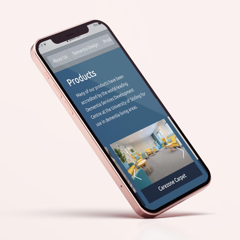 Smart phone with Gradus website on screen